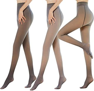 Translucent Pantyhose,Flawless Legs Fake Translucent Warm Fleece Pantyhose for Women,Thermal Winter Tights (90g, Coffee)