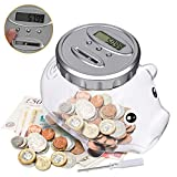 LarmTek Piggy Bank with Automatic LCD Display,Large Capacity Digital Counting Money Jar,Coin Bank as for Kids...