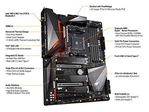 GIGABYTE X570 AORUS Ultra (AMD Ryzen 3000/X570/ATX/PCIe4.0/DDR4/USB3.1/Realtek ALC1220-Vb/Fins-Array Heatsink/RGB Fusion 2.0/3xM.2 Thermal Guard/Gaming Motherboard)