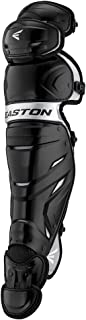 Easton Elite X Baseball Catchers Leg Guards | 2020 | Vented Shell for Ultimate Protection & Breathability | Reinforced Knee + Thigh Straps Provides Ultimate Fit + Mobility | Adjustable Inner Liners
