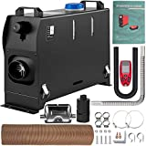 VEVOR Diesel Air Heater, 5KW Parking Heater, 12V Truck Heater, Single Air Outlet Hole, with Knob Switch, Remote Control, Fast Heating Diesel Heater, For RV Truck, Boat, Bus, Car Trailer, Motorhomes