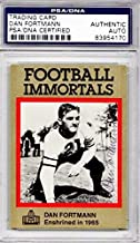 Dan Fortmann Signed - Autographed 1985 Football Immortals Card - Chicago Bears - Deceased 1995 - Certificate of Authenticity (COA) - Slabbed Holder - PSA/DNA Certified