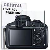 REY Protector de Pantalla para Canon 1200D - 1300D, Cristal Vidrio Templado Premium