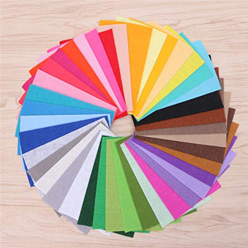 Anniston Art & Craft Sewing Set, 40Pcs Mixed Color Soft Nonwoven Felt Fabric Sheets Kids DIY Craft Patchwork Sewing Supplies for DIY Beginners Adult Kids Teens Girls
