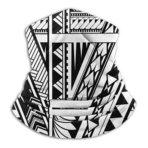 antcreptson Polynesian Ethnic Style Sleeve Tattoo Balaclava Headband Mouth Cover Scarf Bandanas for Outdoor Sports Windproof Mask Face