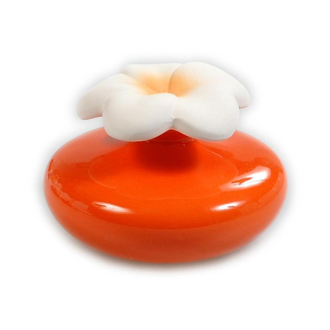 非互換起訴するしわMillefiori FIORE ルームフレグランス用 花の形のセラミックディフューザー Mサイズ オレンジ LDIF-FM-004