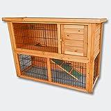 WilTec Conejera 2 Niveles caseta roedores Corredor Libre Animales pequeños jardín