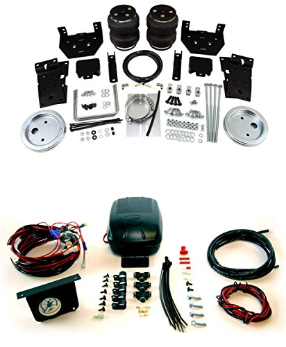 Air Lift 57399 25592 Set of Rear Load Lifter 5000 Series with Load Controller II Compressor Kit for Ford F-250 F-350 F-450 Super Duty Pickup