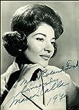 12X8 INCHES Signierter Autogrammdruck von Maria Callas, ca.