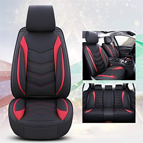 XHJZ-W Car Seat Protector, 5 Sitzer Autositzbezüge Full Set mit wasserfestem Leder, Universal gepasst für die meisten Limousine SUV für den ganzjährigen Einsatz,1,A