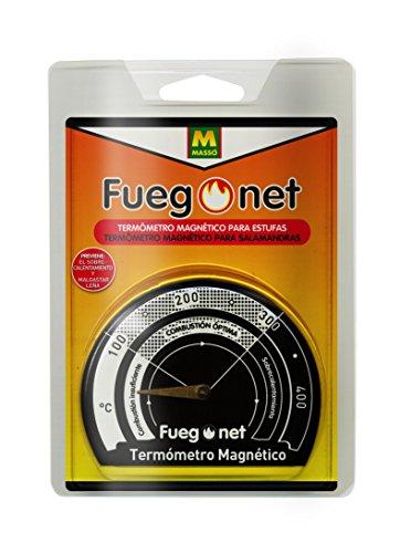 Fuegonet 231301 Thermometer, magnetisch, zwart, 10,5 x 3 x 14,5 cm