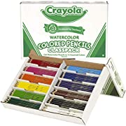 Crayola Watercolor Pencils Classpack 240-Count, School and Craft Supplies, Teacher and Classroom Supplies, Gift for Boys and Girls, Kids, Ages 3,4, 5, 6 and Up, Back to school, School supplies, Arts and Crafts