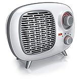Brandson – Stufetta elettrica dal design retro – Tecnologia ceramica – 1500 Watt - Silenziosa a risparmio energetico – Termostato – Funzione ventola - Fusibile termico - Design retrò