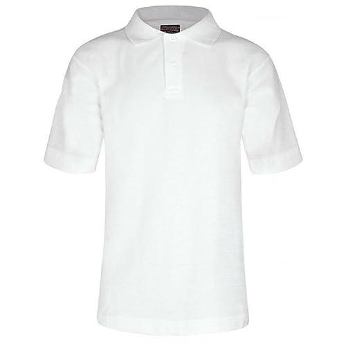 358650267 Age 2-15 School Plain Polo Shirt Short Sleeve 15 Colours Childrens Boys  Polo Shirt