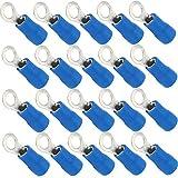Mintice 100 X Azul Cobre Anillo a Tope Aislado Conectores terminales Calibre 16-22 AWG rizar Alambre Cable eléctrico engarzado crimpadora inalámbrico M6