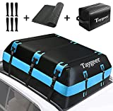 Taygeer Rooftop Cargo Carrier, Waterproof Vehicle Cargo Carriers Rooftop Cargo Bag 21 Cubic Soft-Shell Car Top Carrier with Door Hooks and Anti-Slip Mat, Roof Bag for All Cars with/Without Racks