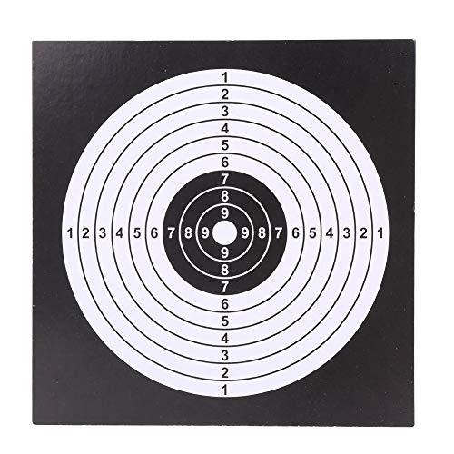 DEWIN Objetivos de Papel de Tiro con Arco: Practicar Papel Objetivo 14 * 14 cm Cara de Papel de Tiro con Arco para Flecha Arco Tiro Tiro Práctica de Caza 100 Unids/Lote(Negro)