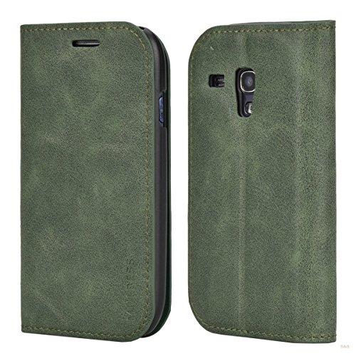 Mulbess Cover per Samsung Galaxy S3 Mini, Custodia Pelle con Funzione Stand per Samsung Galaxy S3 Mini Case, Verde