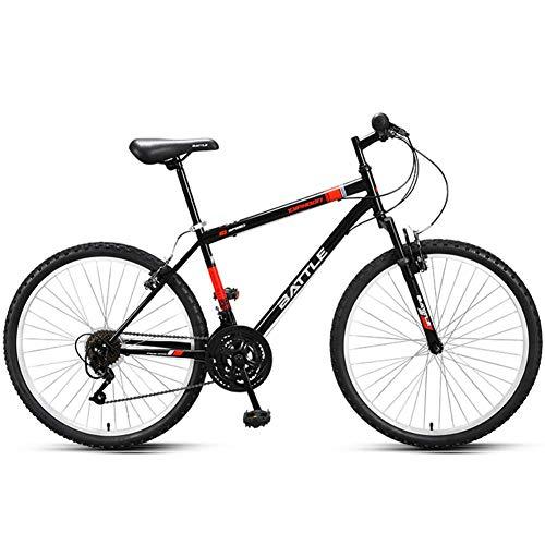 26 Zoll Rennrad, 18 Geschwindigkeit Erwachsener hochgekohlt Stahlrahmen-Straßen-Fahrrad, Stadt-Pendler-Fahrrad mit Dämpfung Vorderradgabel, ideal for die Straße oder Schmutz Trail Touring, Blau FDWFN