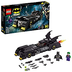 The batmobile car toy features an opening minifigure cockpit, foldout stud shooters, opening hood with engine inside, plus a snow scooter More features include wheel trims with bat symbol decoration, two batwings and translucent yellow and red light ...