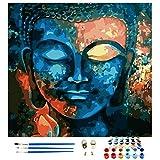 Ulikey Pintura por Números, Lienzo de DIY de Pintura al óleo Kits, Bricolaje Regalo de Pintura al óleo, DIY Pintura al óleo Hogar Decoraciones Regalo para Adultos Niños Principiantes (Buda)