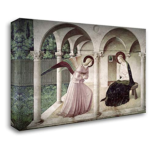Angelico, Fra 24x17 Gallery Wrapped Stretched Canvas Art Titled: Annunciation