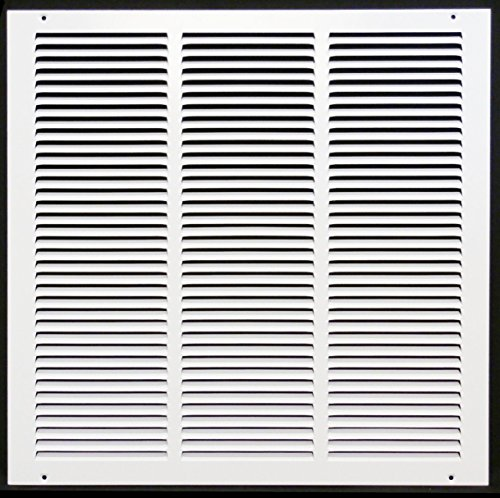 16'w X 16'h Steel Return Air Grilles - Sidewall and Ceiling - HVAC Duct Cover - White [Outer Dimensions: 17.75'w X 17.75'h]