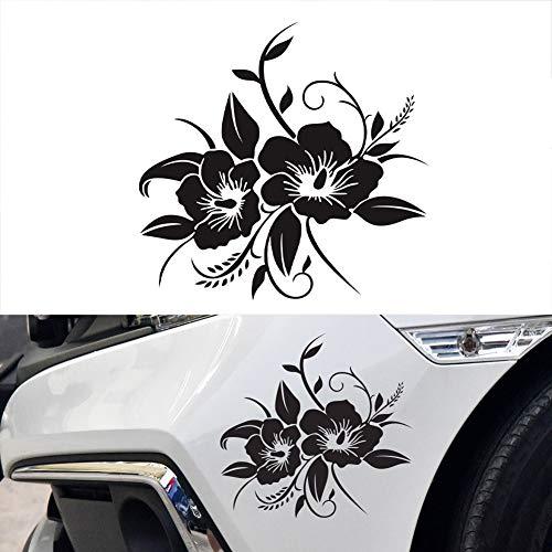 gfyee Autoaufkleber Blumen kfz-Tattoo Klebe-Folie, Blumen blumenaufkleber autotattoos selbstklebend Aufkleber Fenster, Motorhaubenaufkleber - Auto Sticker Tuning Dekoration wasserfest 18.8 * 18cm