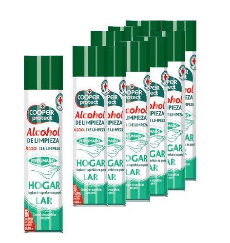 Cooper Protect. Alcohol de limpieza en spray 300 ml. Caja 12 botellas para todo tipo de superficies y objetos