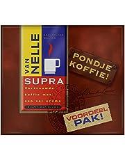 Van Nelle Filterkoffie Supra Pondje (3 Kilogram, Intensiteit 05/09, Zwarte Koffie), 6 dubbelpakken 2 x 250 gram