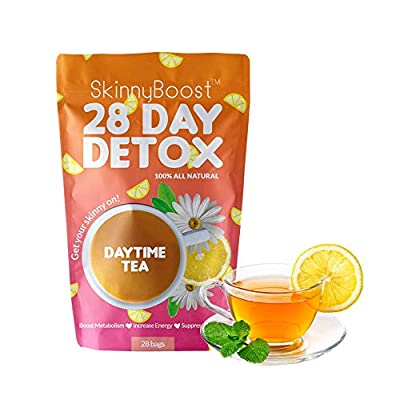 Skinny Boost 28 Day Detox Daytime Tea -(28 Tea Bags) Supports Metabolism Boost, Detox, All Natural, Non GMO, Vegan, Keto Friendly from Gg Brands Inc