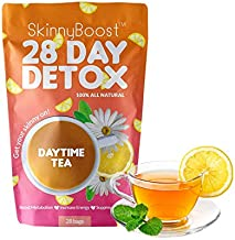 Skinny Boost 28 Day Detox Daytime Tea (28 Tea Bags) -Increase your metabolism, suppress the appetite, increase energy All Natural, Non GMO
