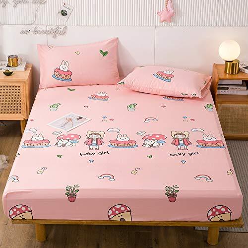 IKITOBI Sábana bajera ajustable para cama doble, extra profunda, suave, 120 x 200 + 30 cm