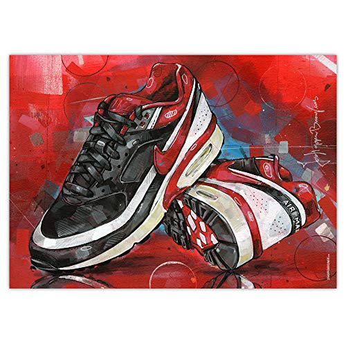 Air Max Classic BW Varsity - Impresión artística (50 x 70 cm), color rojo