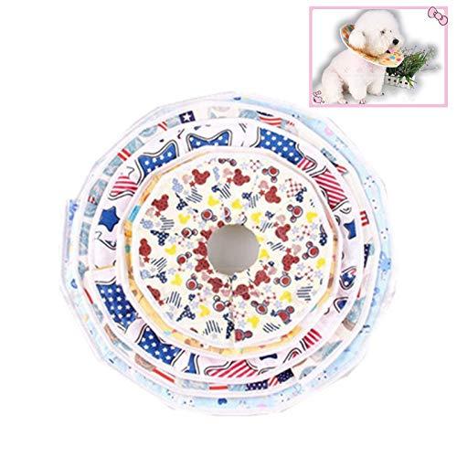 エリザベスカラー 犬 猫 ソフト 布製 軽量 傷口保護 傷舐め防止 4サイズ展開 S【BELSUS正規品】