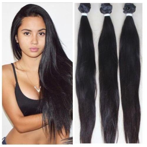 Cheveux Vierges malaisiens droite 1p/Lot 50 g Défrise malaisiens trames tissage 100% cheveux cheveux vierges naturels non traités (40,6 cm)