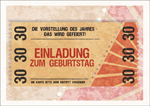 Party uitnodigingskaart voor de 30e verjaardag in coole ticket look: het idee van het jaar - dat wordt gevierd! Uitnodiging voor verjaardag • mooie wenskaart met envelop zakelijk & privé