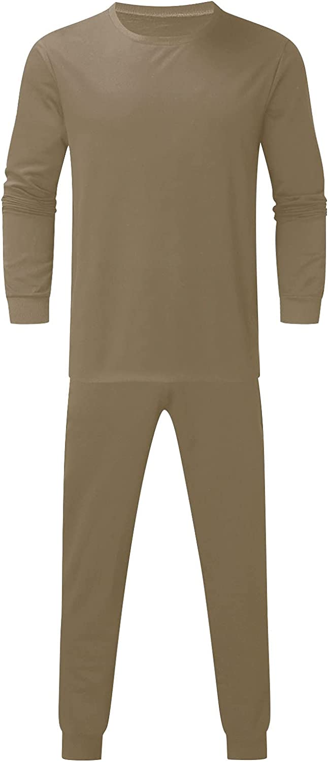 FUNEY Men's Tracksuit 2 Piece Long Sleeve Pullover T-Shirts Tops and Jogger Sweatpants Sets Activewear Lightweight Outfitts