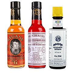 "Great Variety Pack ""Must Have"" for any cocktail geek Angostura (4 oz) Regans (5 oz) Peychauds (5 oz)"