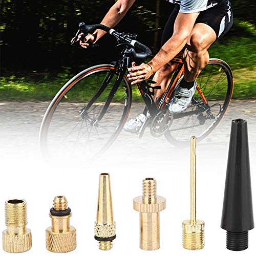 SALUTUYA Práctico convertidor de válvula de Bicicleta de Cobre de válvula de Bicicleta de 15 Piezas, para la mayoría de Las Bicicletas