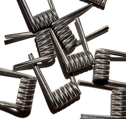 Pack of 10 Prebuilt Handmade Alien Fused Clapton SS316 3x26GA + Ni80 1x36GA for Craft Hobby Use