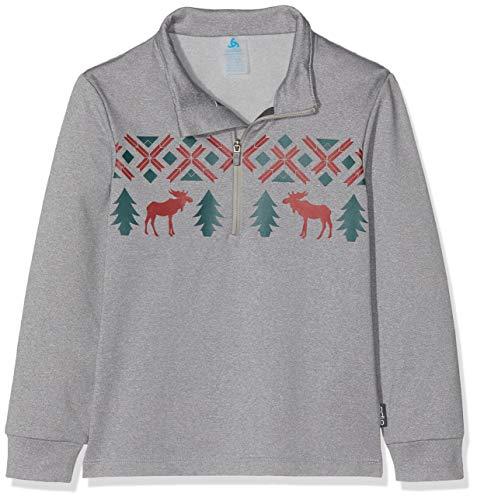 Odlo kinderen Midlayer Full Zip Pazola Reindeer sweatshirt jas
