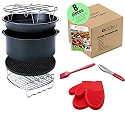 Air fryer accessories that is compatible with most model (check). Check price on Amazon
