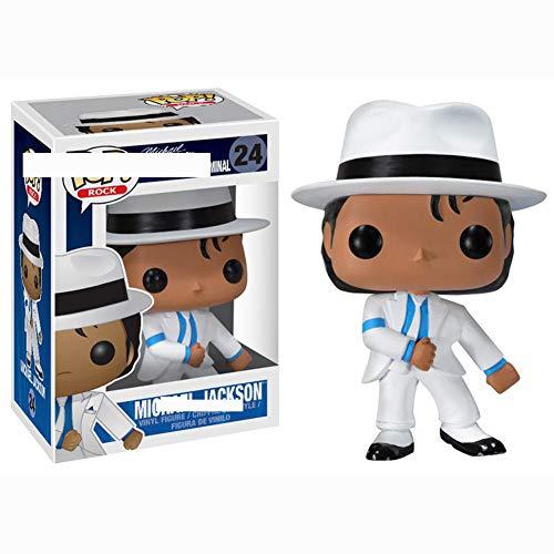 LiQi Funko Pop Michael Jackson Fatto a Mano Modello di Decorazione Anime Modello Bambola Giocattolo,24#