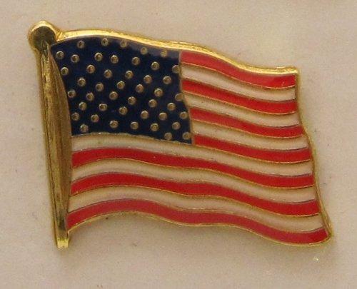 Buddel-Bini Versand USA Pin Anstecker Flagge Fahne Nationalflagge Amerikaflagge Flaggenpin Badge Button Flaggen Clip Anstecknadel