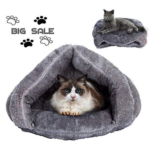 Archir Nette weiche warme Cat Cave Bett-Vlies-Haus-Katze Schlafsack Hundebett Mat Kätzchen Haus Kissen Nest Haustier-Produkte for Welpen (Size : 40×40 cm)