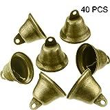 40 Pièces Vintage Jingle Bells Clochettes en Bronze Suspensions en Cuivre pour Carillons Éoliens Faisant des Décorations Artisanales