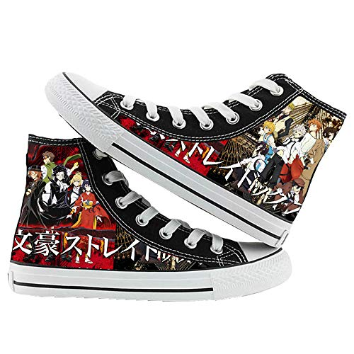 JPTYJ Bungo Stray Dogs Alpargatas para Hombre Anime High Top Canvas Shoes Sneakers Trainers Cosplay Botines para Hombres Mujeres A-38