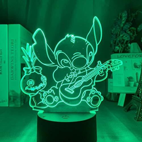 Pequeños adornos LED Luz de noche Artesanía Lámpara de noche acrílica Regalo de cumpleaños Lámpara de mesa Usb ambiental 3d