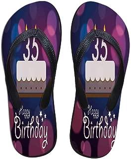 30th Birthday Decorations Wear Resisting Flip Flops,Modern Design Polygonal Emblem Starry Night Sky Image for Indoor & Outdoor,US Size 5